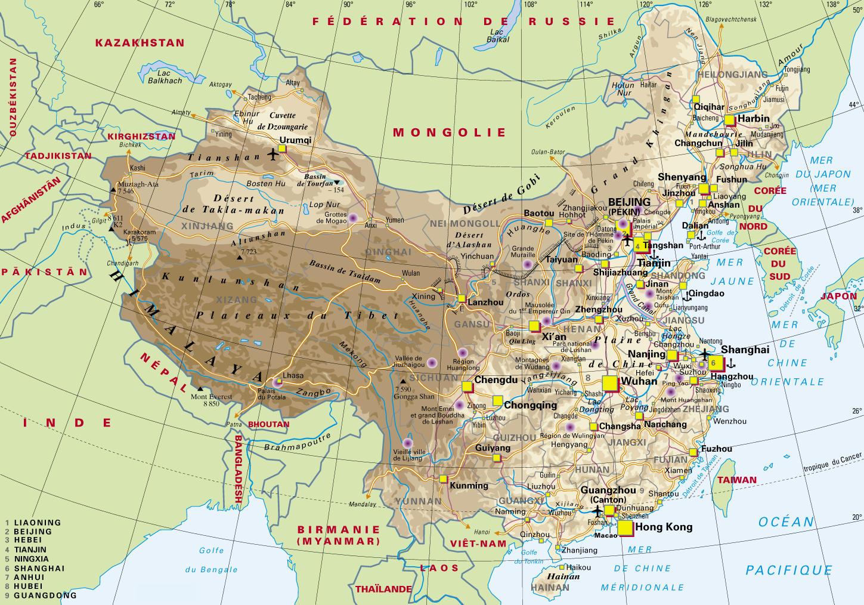 Carte Chine