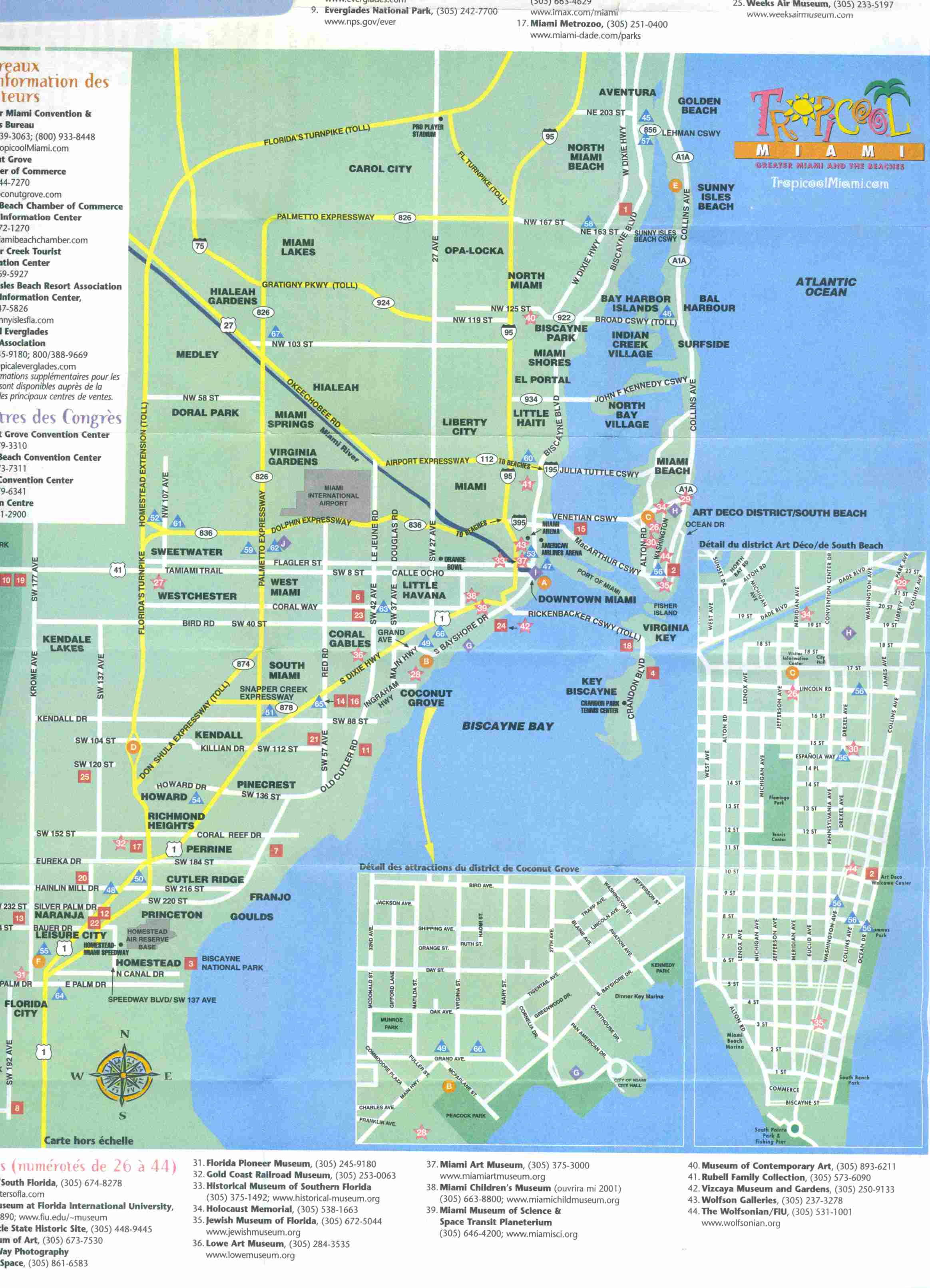 Carte de Miami
