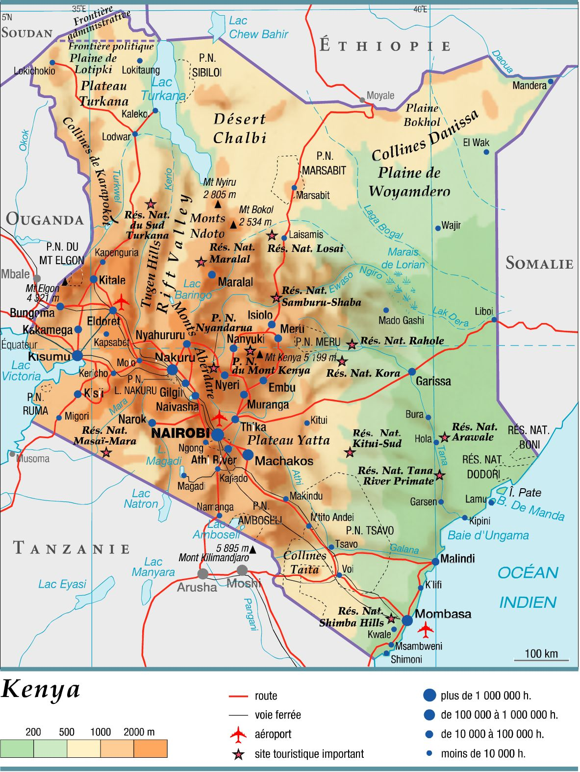 Carte Kenya