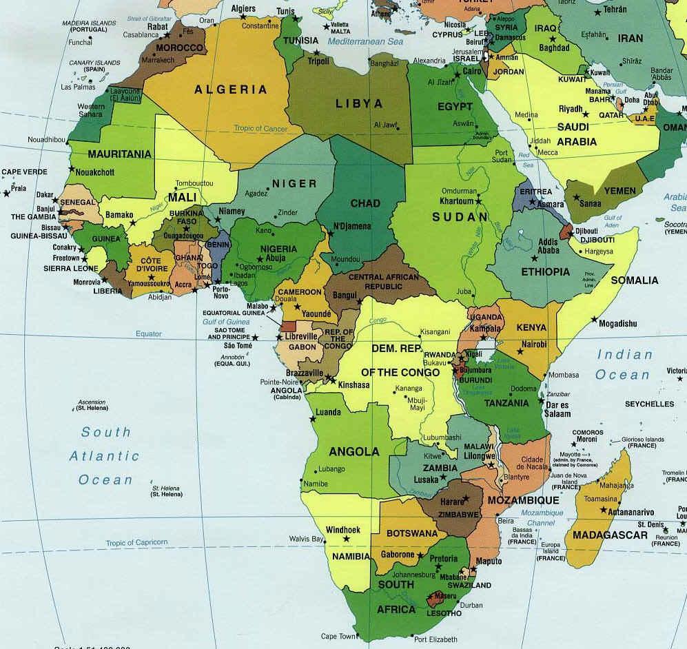 carte afrique
