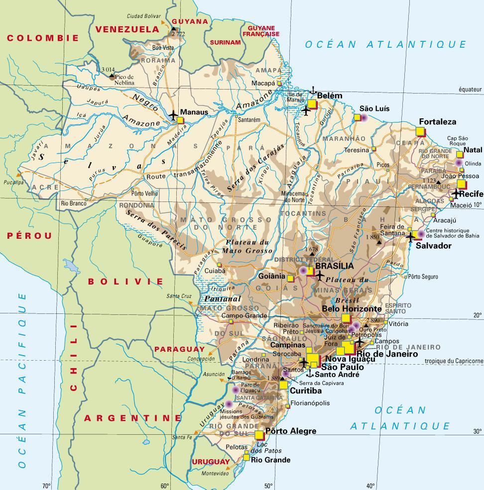Carte Brésil