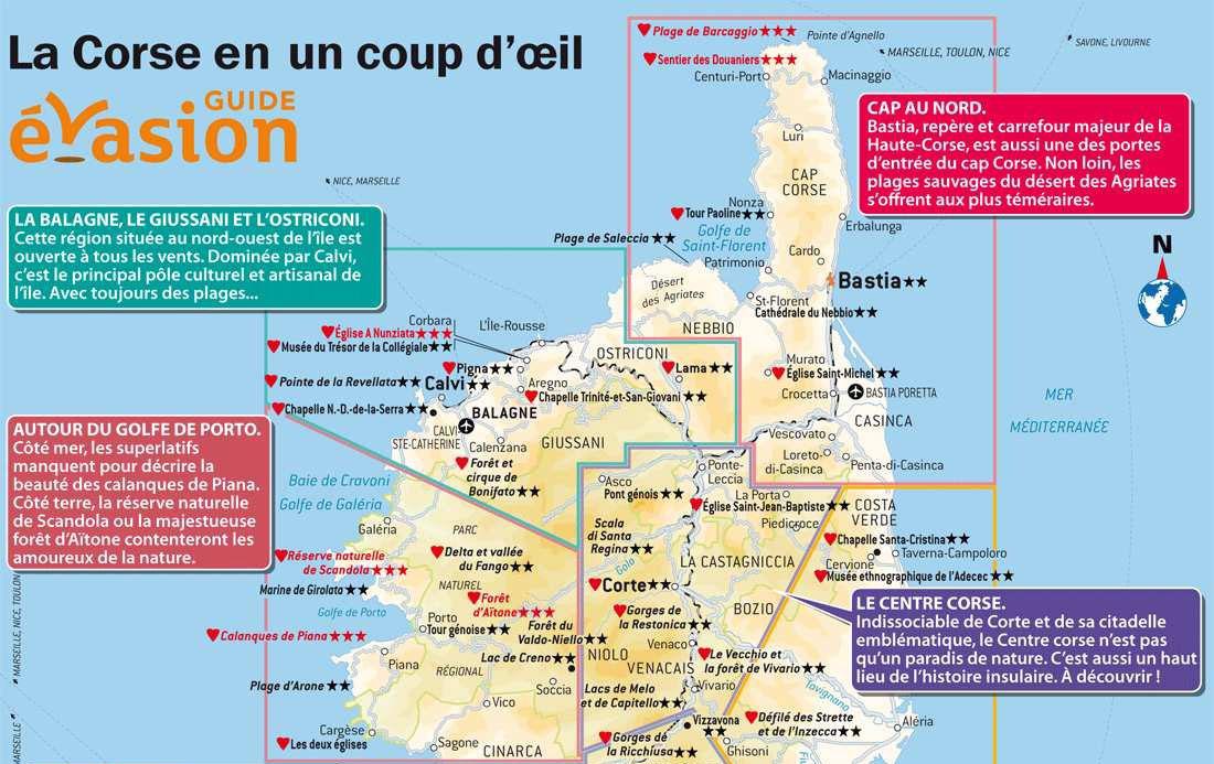 Carte touristique corse du nord archives voyages cartes - Office du tourisme porto corse ...
