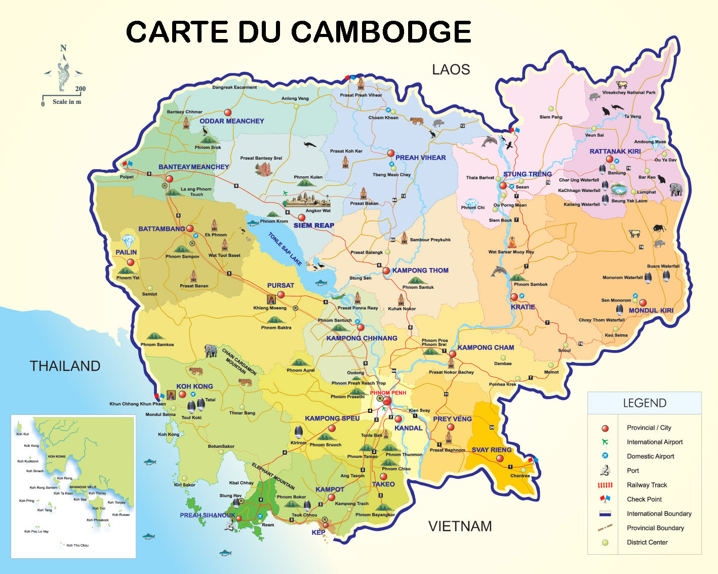 carte du cambodge. Black Bedroom Furniture Sets. Home Design Ideas