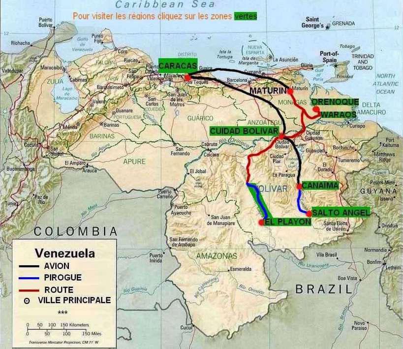 venezuela carte touristique