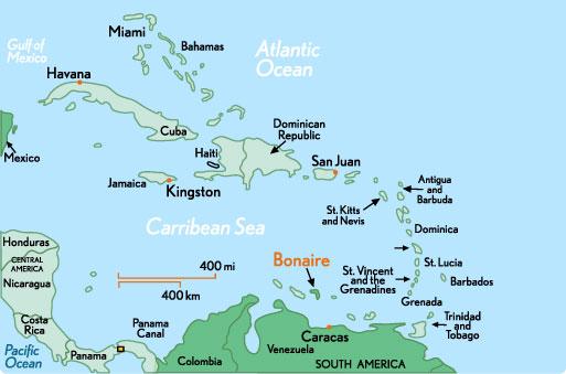 Bonaire - Antilles - carte