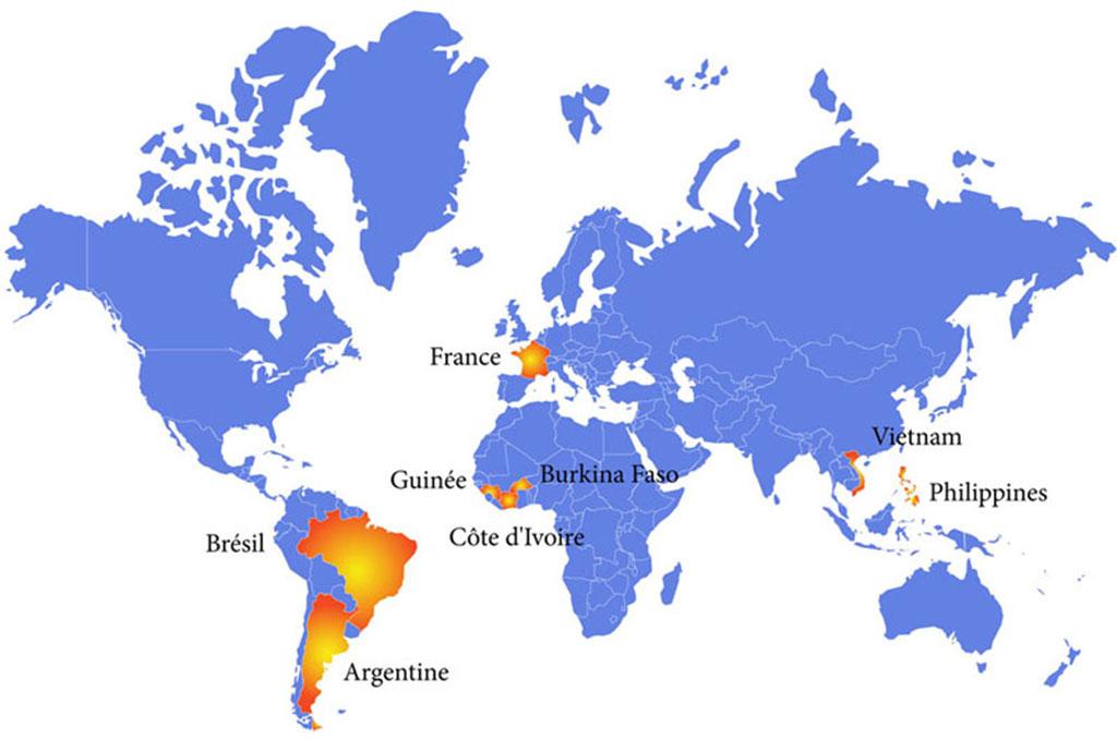 Carte du monde - Brésil