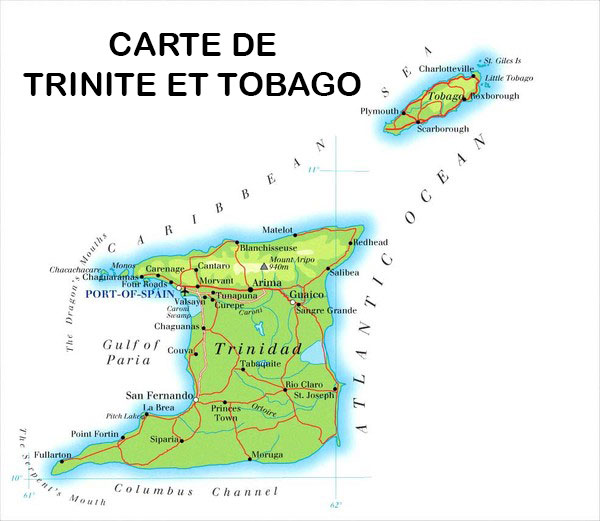 Carte Trinité et Tobago