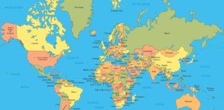 Carte du monde des Pays