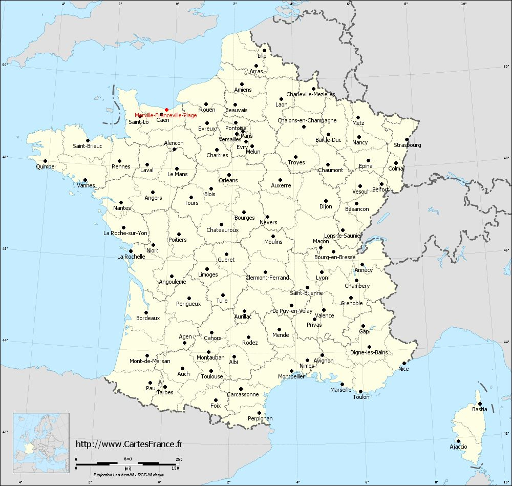 Carte de france villes for Piscine de france
