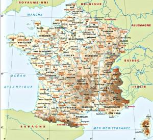 Carte de France villes