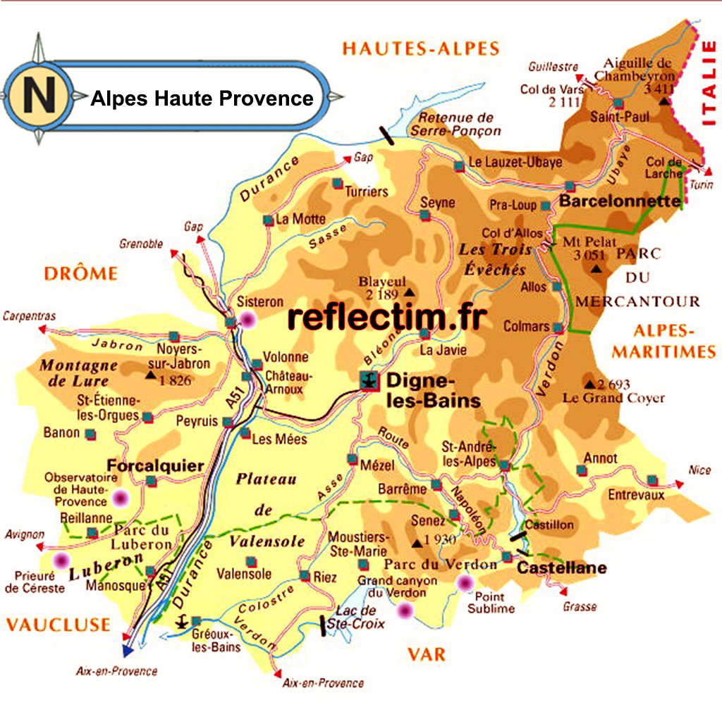 Carte alpes-de-haute-provence