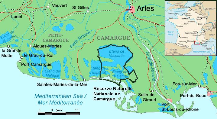 Carte de camargue - Office de tourisme les saintes marie de la mer ...