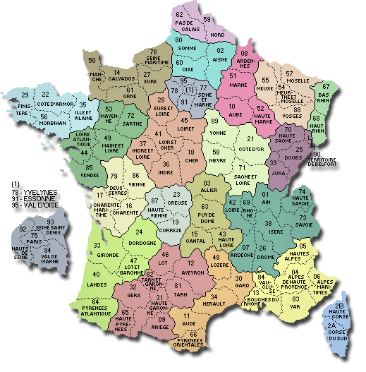 Départements de France
