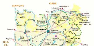 53- Carte de la Mayenne