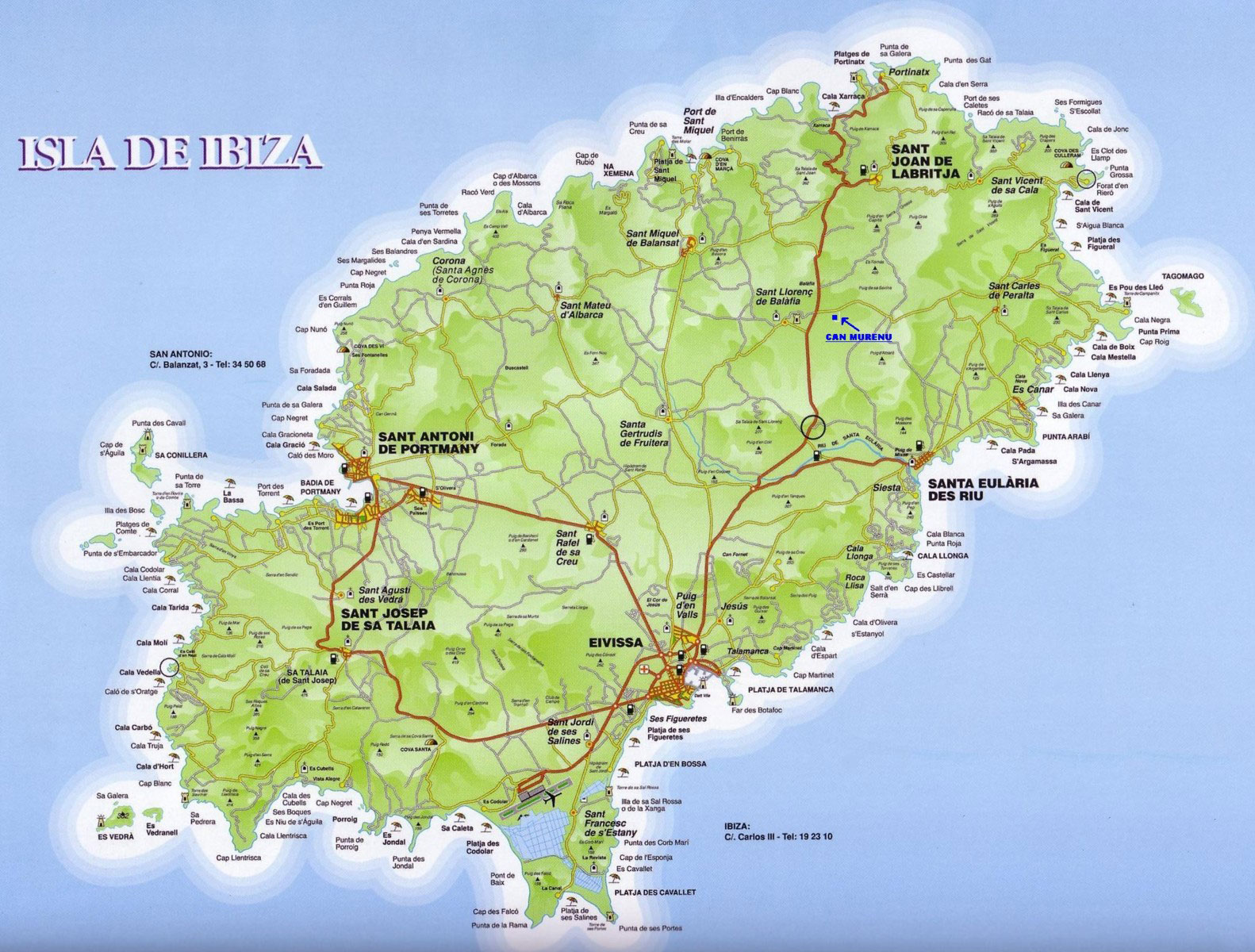 Carte Ibiza