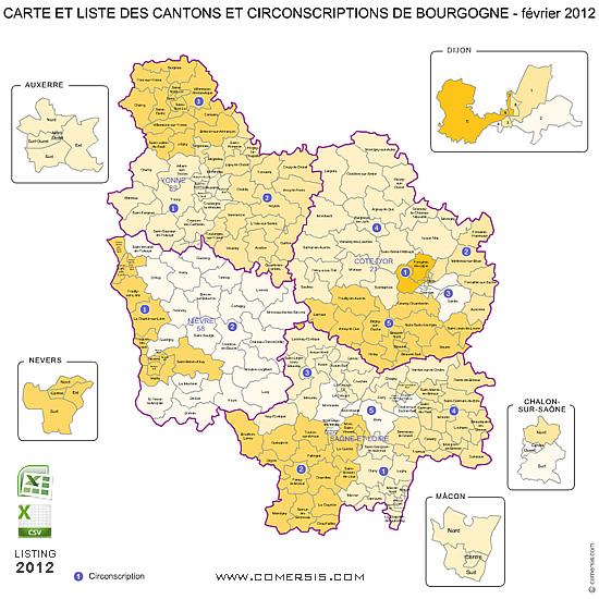 Carte de Bourgogne
