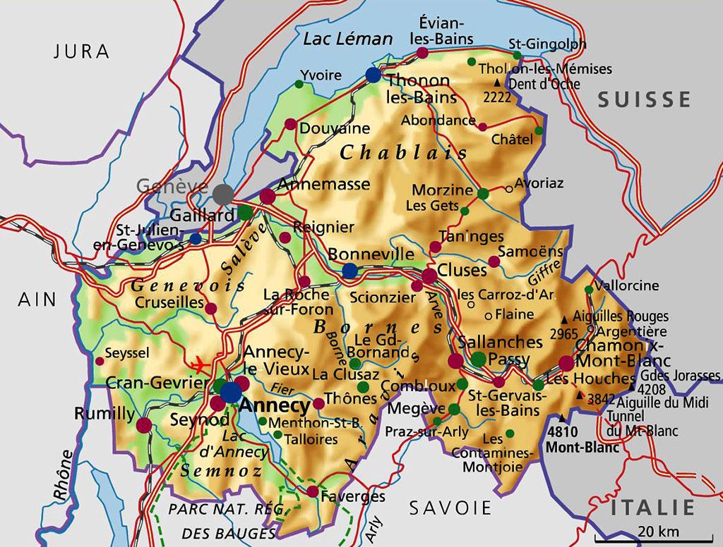 Carte Haute-Savoie