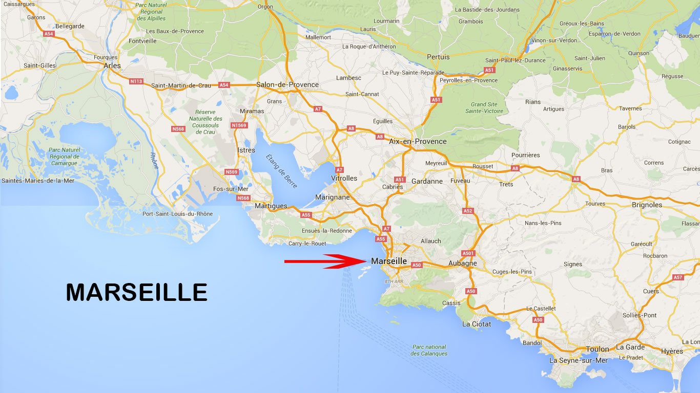 carte marseille et environs Carte de Marseille   Voyages   Cartes