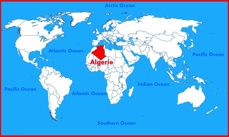 Carte du monde - Algérie