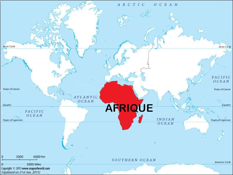 Carte du monde - Afrique