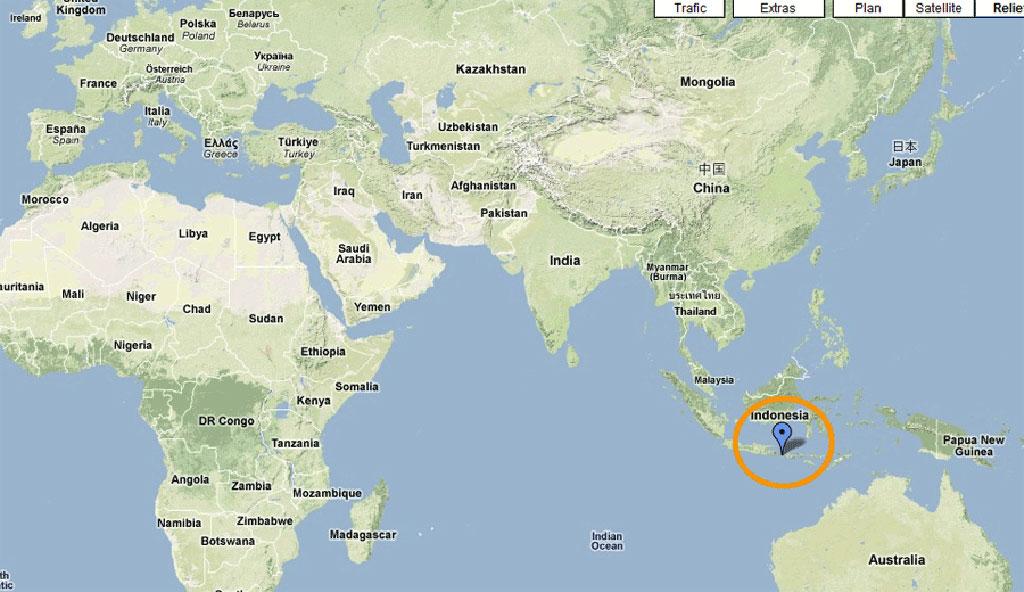 Carte du monde - Bali