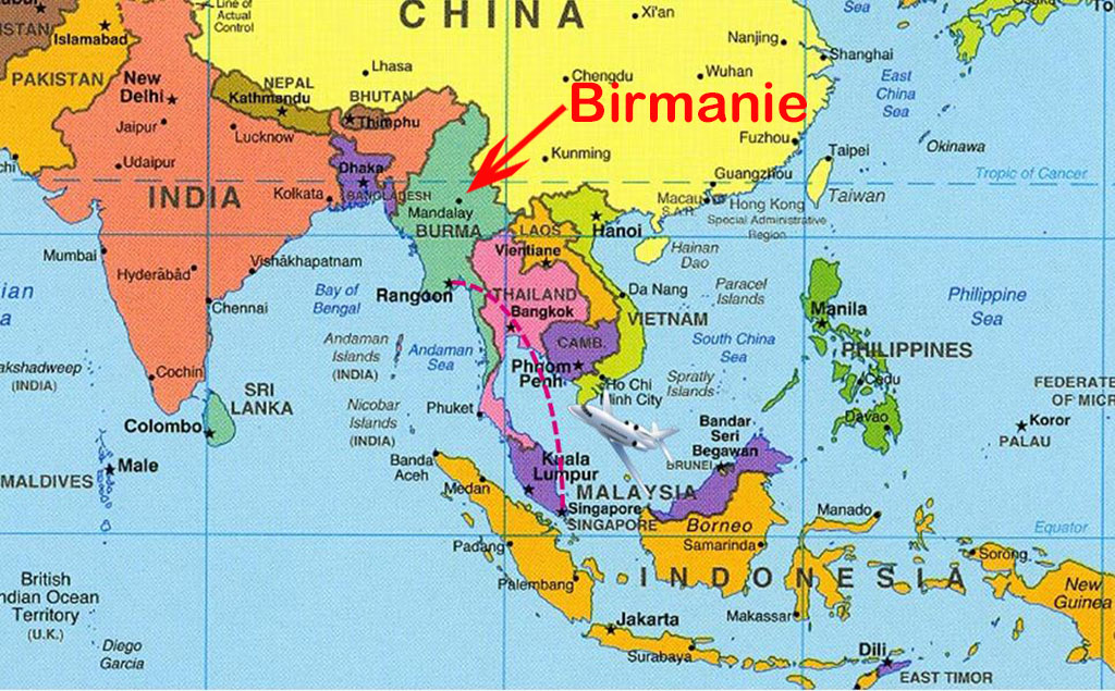 Birmanie Capitale Carte.Carte Du Monde Birmanie Voyages Cartes