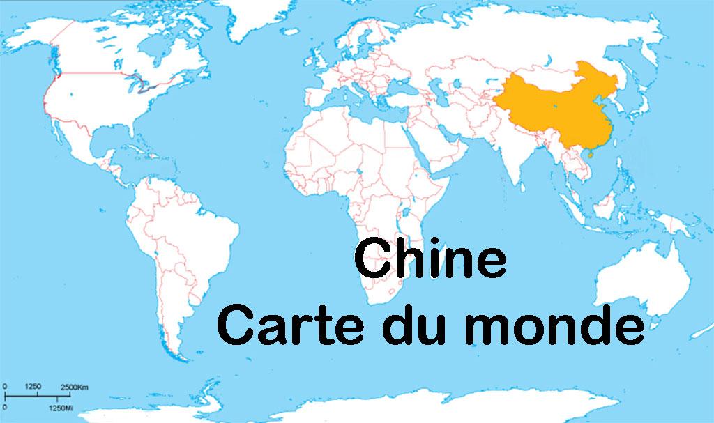 Chine Carte du monde