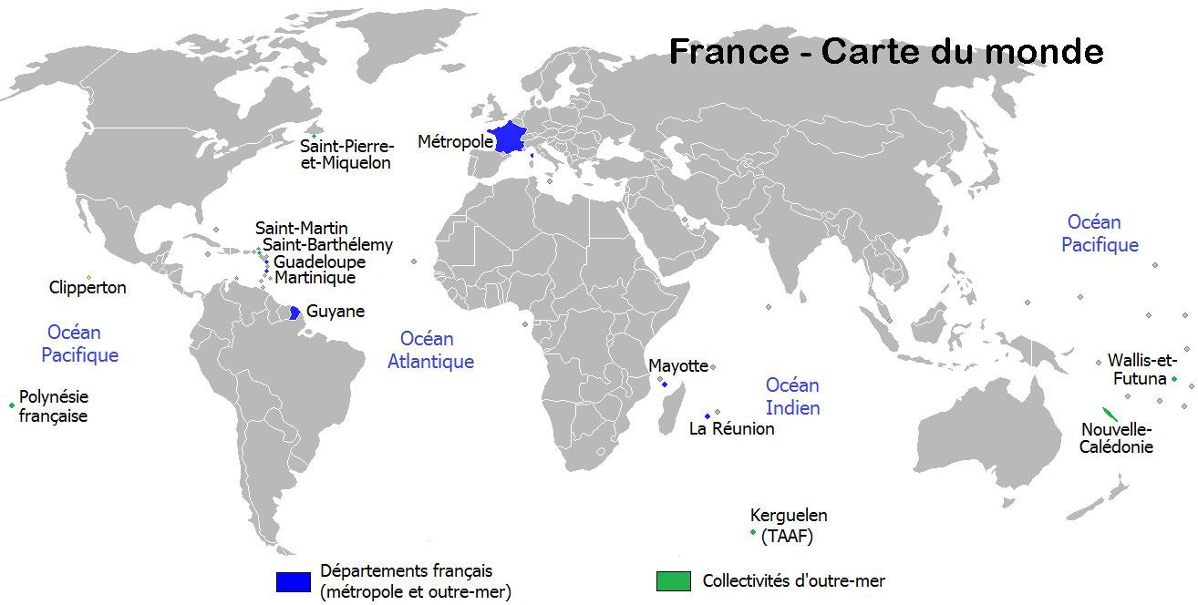 Carte du monde - France