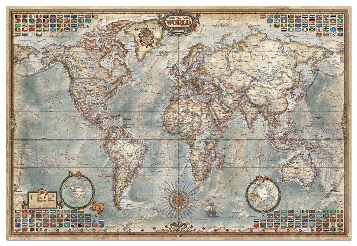 carte du monde ancienne. Black Bedroom Furniture Sets. Home Design Ideas
