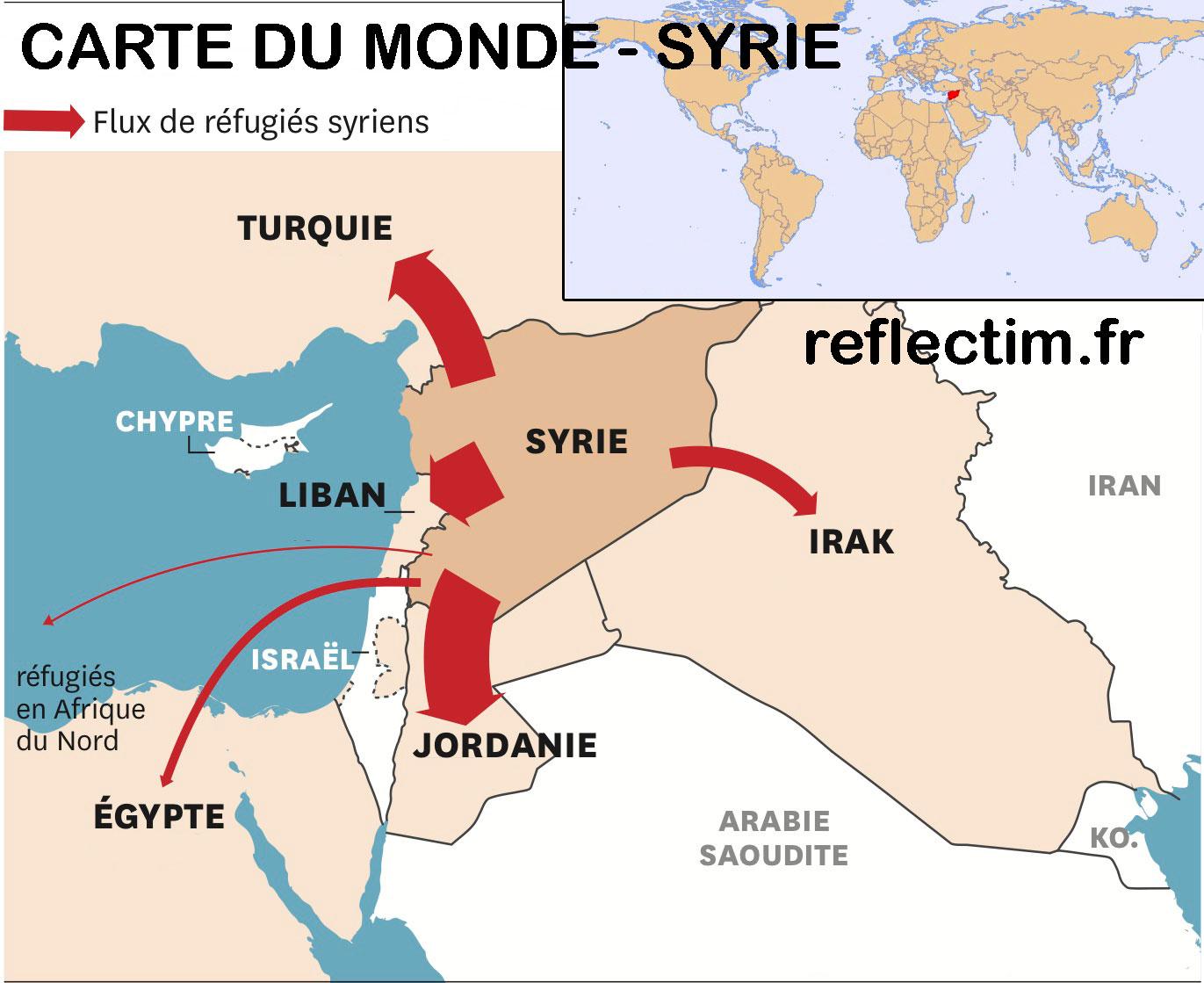 Carte du monde - Syrie
