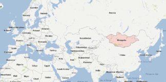 Mongolie - Carte du monde