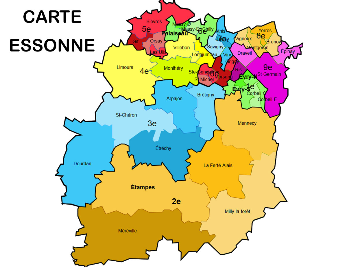 carte departement 91