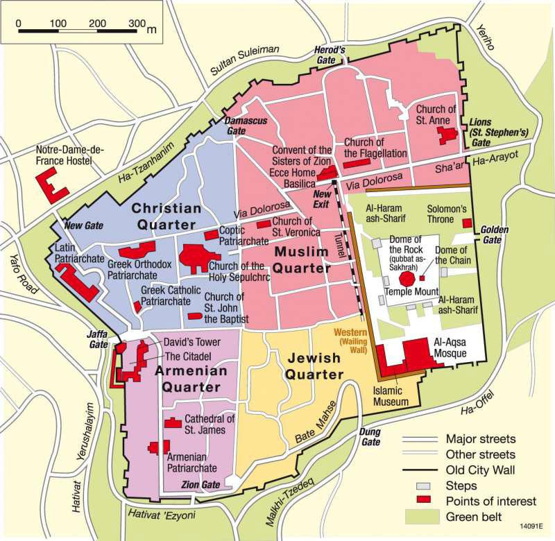 Carte de Jerusalem