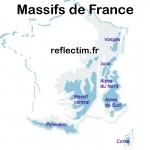 Massifs de France - Carte