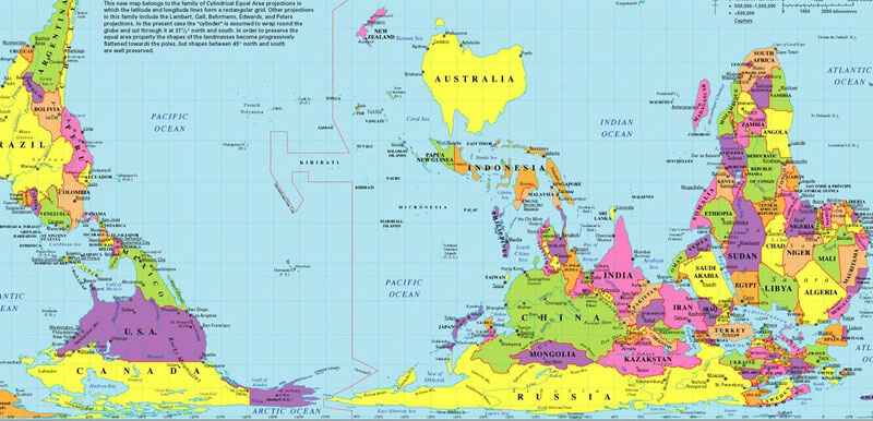 Carte du monde - Australie