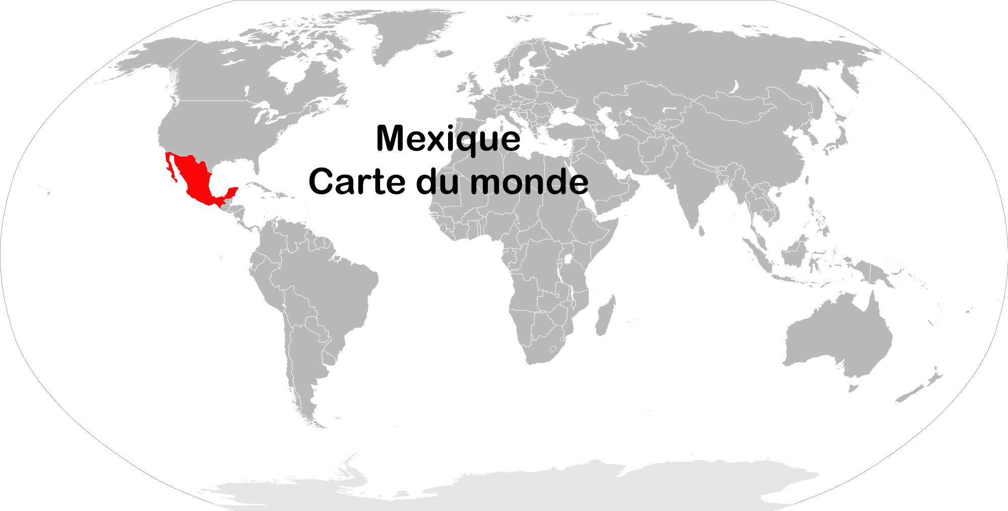 Mexique - Carte du monde