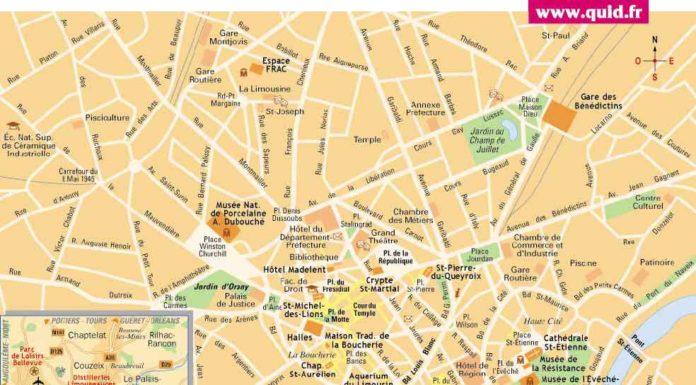 Carte de Limoges - Plan