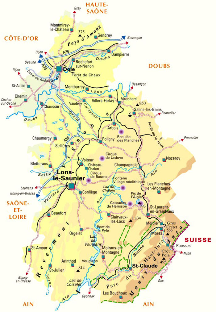 Carte du Jura