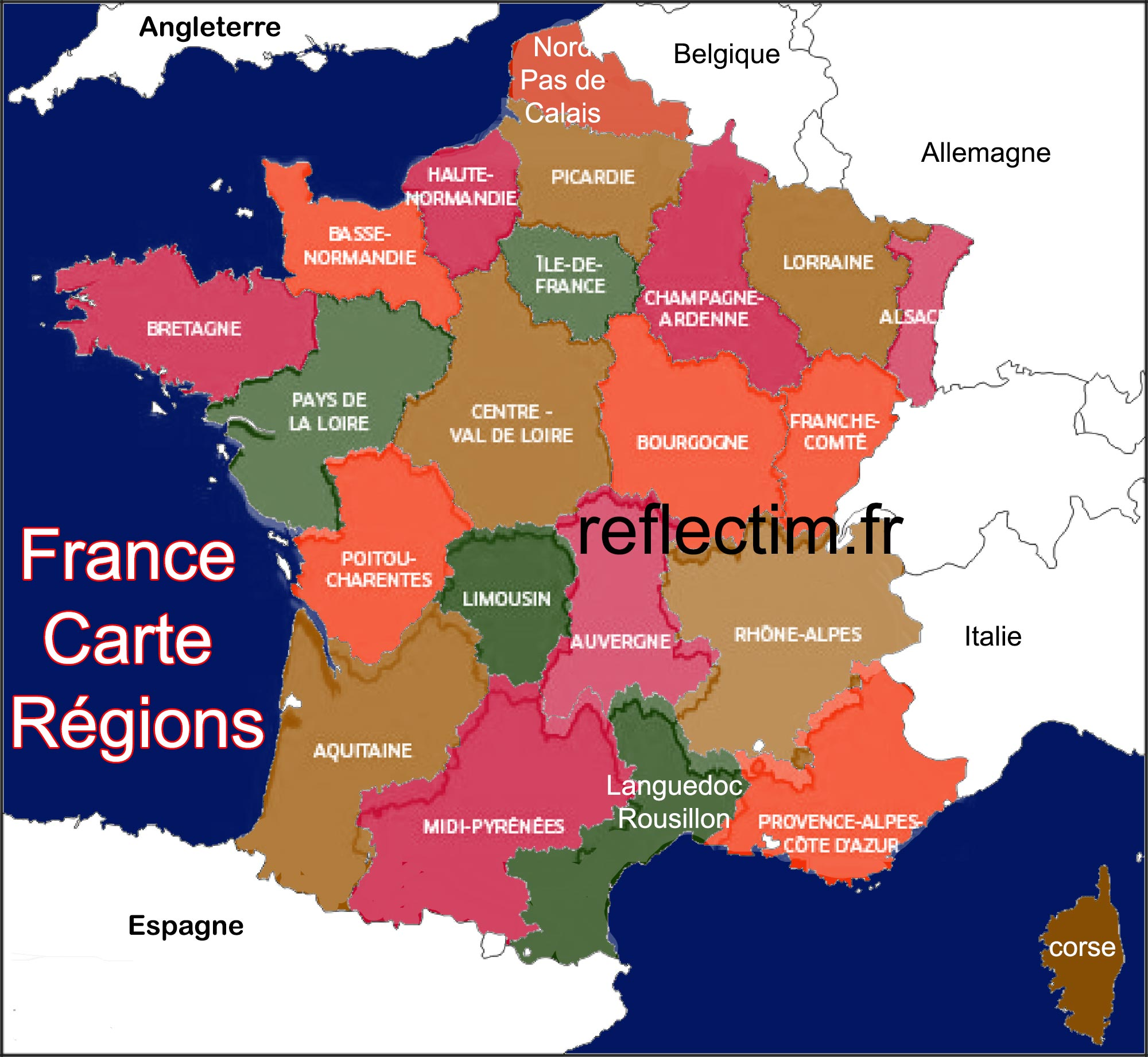 France - Carte - Région