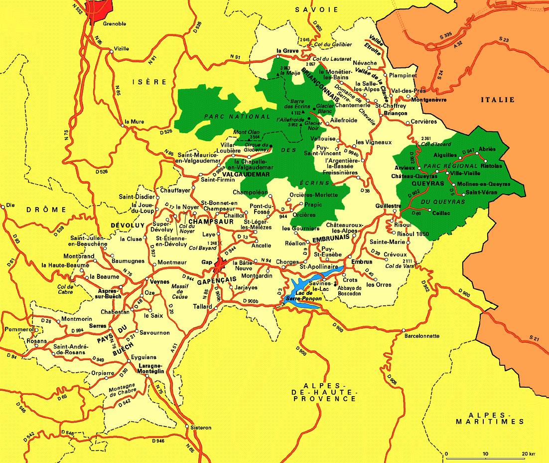 Les Alpes - Carte
