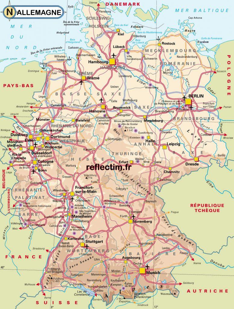 Allemagne carte - Voyages - Cartes