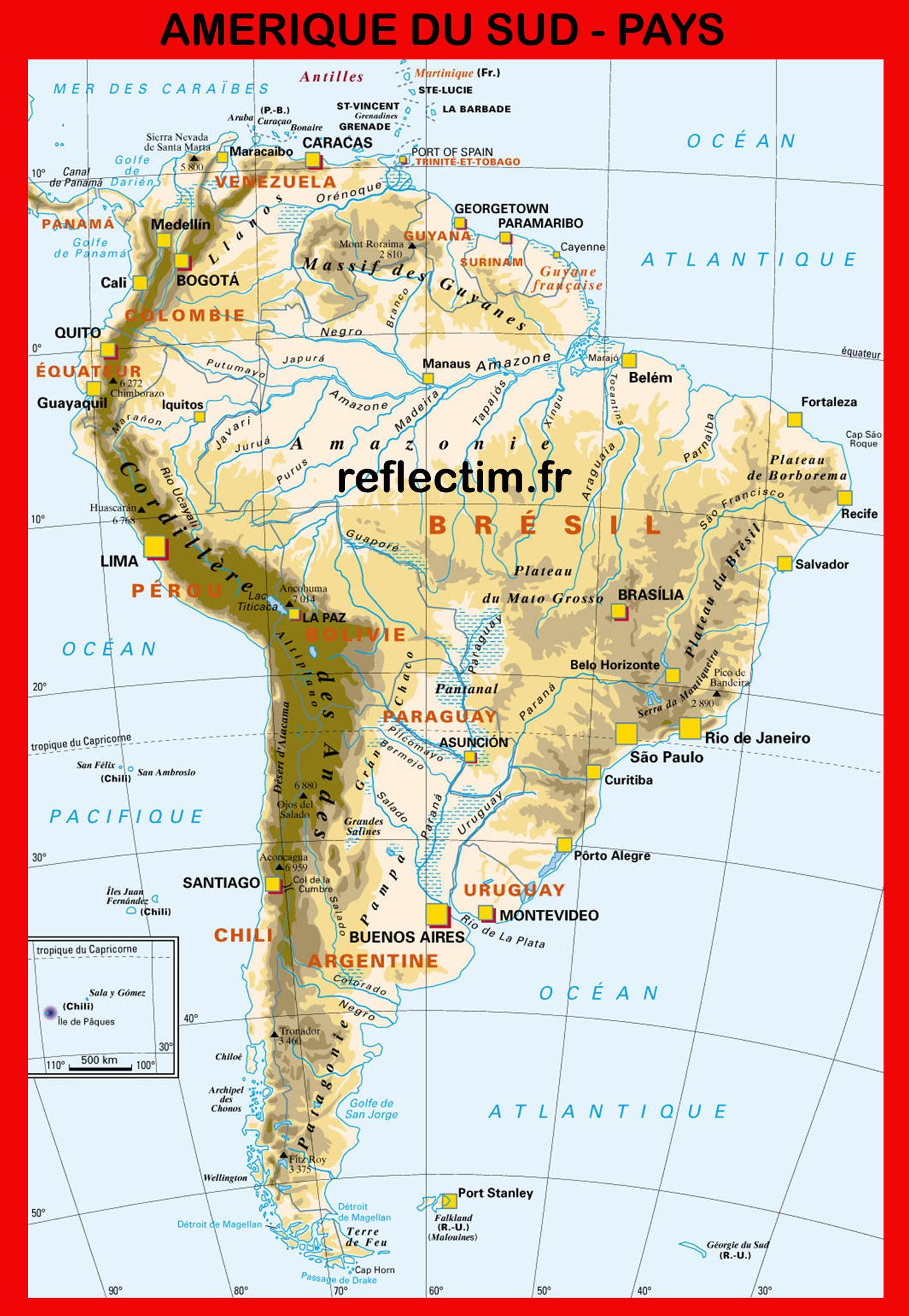 Amérique du sud - Pays