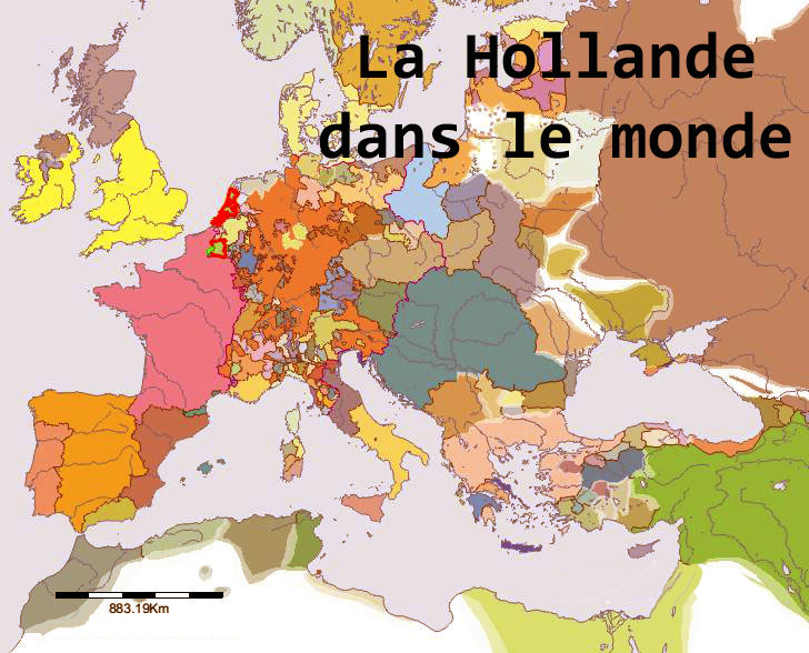 Carte du monde de la Hollande