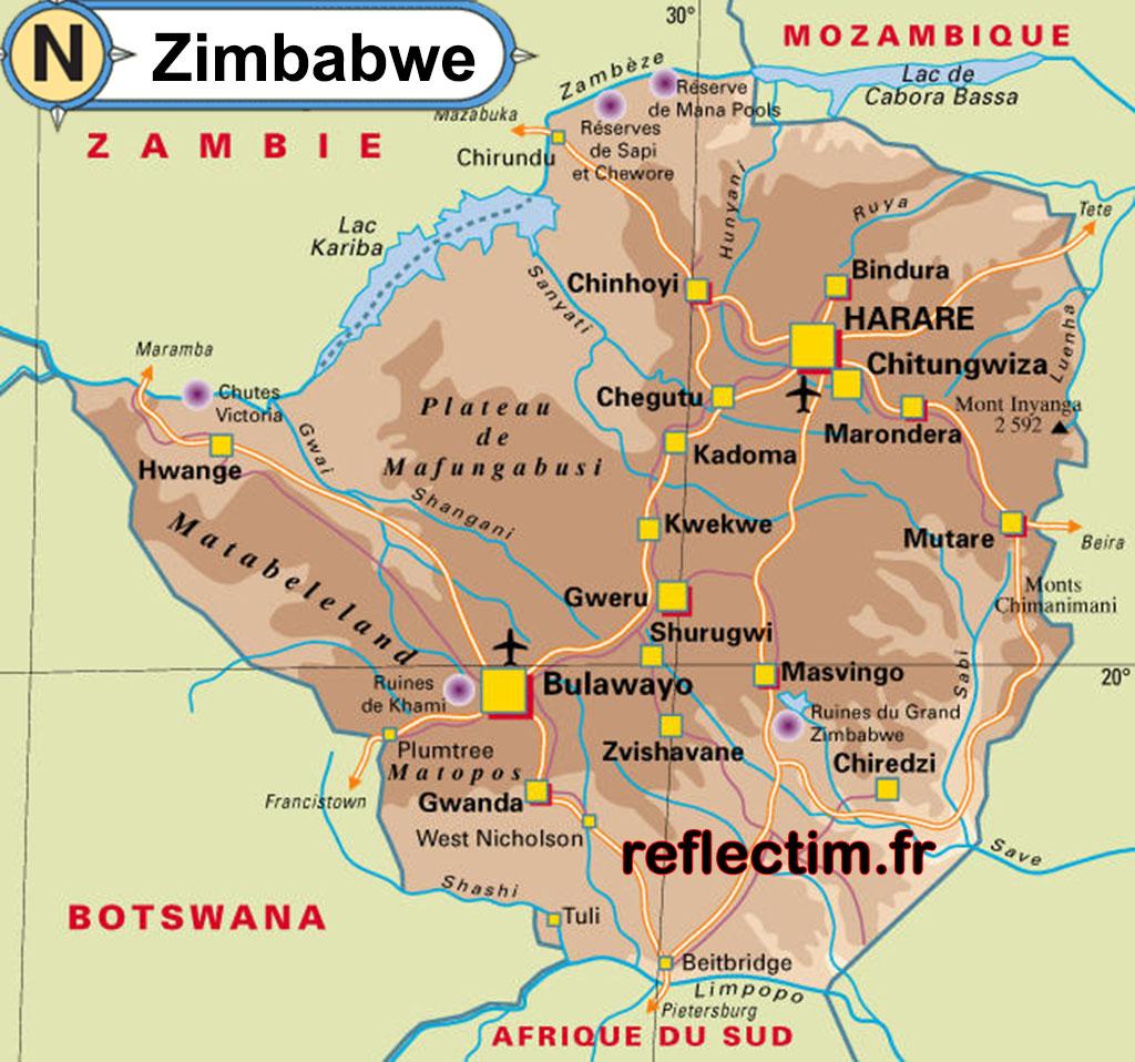 carte-du-zimbabwe