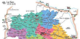 Carte du Gers