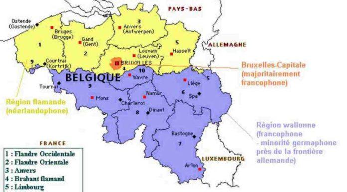 carte-de-la-Belgique-région-flamande