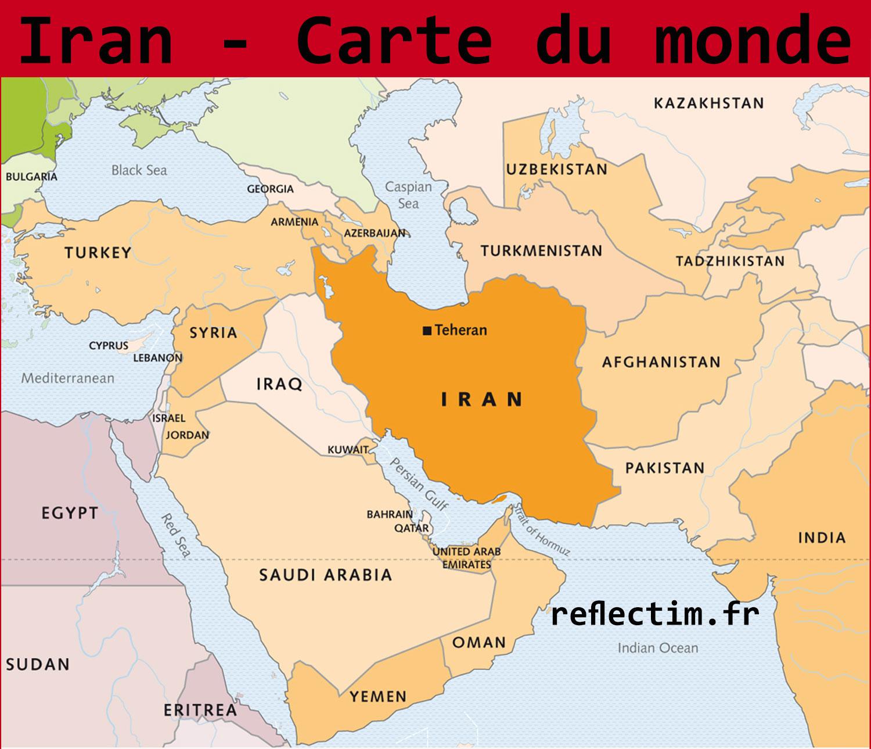 iran carte du monde Carte du monde Iran   Voyages   Cartes
