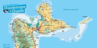 Carte géographique de la Guadeloupe