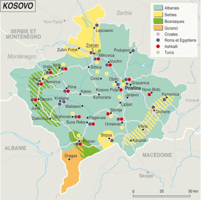 Carte du monde - kosovo