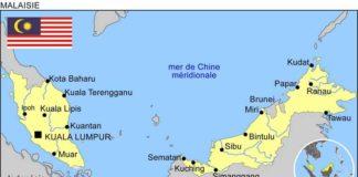 kuala lumpur - Malaisie - carte du monde